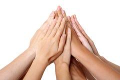 Passa l'unione di successo di lavoro di squadra Immagini Stock Libere da Diritti