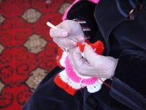 Passa la nonna con i raggi. Immagini Stock