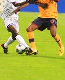 passa till fotboll Royaltyfria Foton