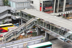 Passadiço em Hong Kong fotos de stock royalty free