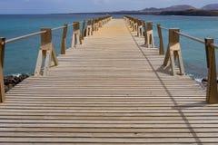 Passadiço sobre o mar Imagens de Stock Royalty Free