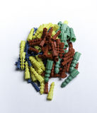 Passadores plásticos coloridos Fotos de Stock