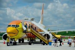 Passagère de personnes thaïlandaises de Don Mueang International Airport à B Images libres de droits