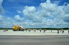 Passagère de personnes thaïlandaises de Don Mueang International Airport à B Photos stock