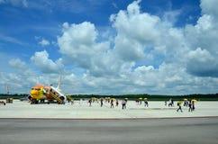 Passagère de personnes thaïlandaises de Don Mueang International Airport à B Images stock