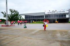 Passagère de personnes thaïlandaises de Don Mueang International Airport à B Photo libre de droits
