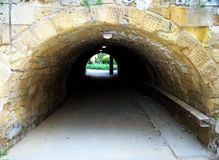The passage. Passing through from one park to another. Nicosia. Cyprus Stock Images