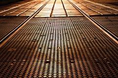 Passage across the rails Stock Photography