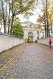 Passage of Alexander Nevsky Lavra Stock Images
