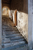 Passage in ancient Montalcino, Tuscany Royalty Free Stock Image