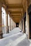 Arcade of Palais-Royal Palace in Paris. Passage arcade of Palais-Royal Palace in Paris Royalty Free Stock Photos