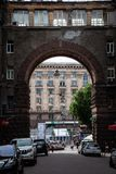 The passage with arche. In Kiev, Ukraine Royalty Free Stock Images