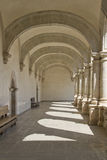 Passage with arches and columns Royalty Free Stock Images
