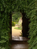 Passage through archway of old ruins Royalty Free Stock Photos