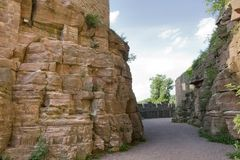 Passage around Wertheim Castle Royalty Free Stock Photo