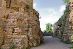 Passage around Wertheim Castle Royalty Free Stock Photo