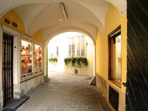 Passage arqué à Vienne Photo libre de droits