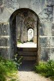 Passage arqué en pierre Photographie stock