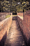 Passage into a bastion along the medieval walls of Lucca Tuscan Stock Photos