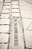 Passage berlinois de pavé rond de mur Photo libre de droits