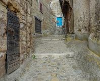 Passage in Calcata, Italy royalty free stock images