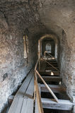 Passage in castle Bethlen, Romania royalty free stock photos