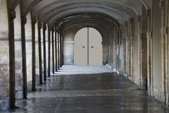 Passage with columns Royalty Free Stock Photo