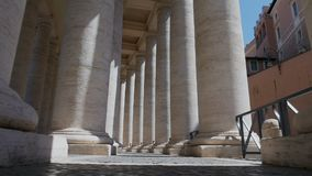 Passage through columns St. Peter`s Square, Vatican city, Italy. Passage through columns St. Peter`s Square, Vatican city, the most famous places in Italy stock video footage