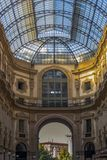Part of one of the architectural wonders of Milan - Passage. In the center of Milan. royalty free stock images