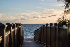 Passage couvert à la belle plage Photo libre de droits