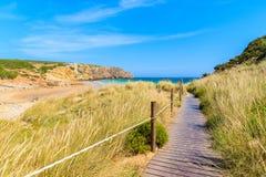 Passage couvert à la plage de Zavial Images libres de droits