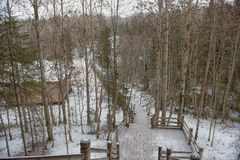Passage couvert au lac Coldwater Images libres de droits