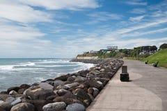 Passage couvert côtier, promenade dans nouveau Plymouth, Nouvelle-Zélande photo libre de droits