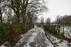 Passage couvert chez Castleton, parc national de secteur maximal, R-U Images stock