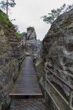 Passage couvert chez le Bastei Images libres de droits