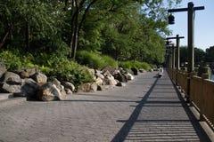 Passage couvert concret au parc Image stock
