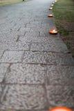 Passage couvert décoré des bougies Photographie stock libre de droits