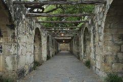 Passage couvert d'Alamo dans la lueur de soirée Photo libre de droits
