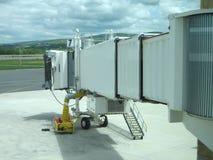 Passage couvert d'avion à réaction photo libre de droits
