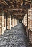 Passage couvert d'Imola Rocca Sforzesca, Italie images libres de droits