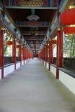 Passage couvert dans le temple en bambou Photo libre de droits