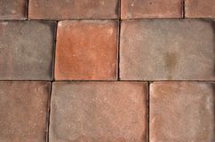Passage couvert de brique photographie stock