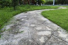Passage couvert de ciment Photographie stock