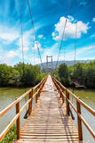 Passage couvert de Forest Wooden de palétuvier de baie de Thung Kha Chumphon, Thaïlande photographie stock