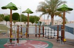 Passage couvert de jeu de parc d'enfants Images libres de droits
