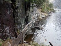 Passage couvert de lac avalanche Photos libres de droits