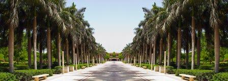 Passage couvert de marbre en parc Images libres de droits