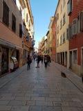 Passage couvert de ville dans Rovinj Photos libres de droits