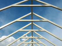 Passage couvert en acier de toit Photographie stock