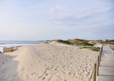 Passage couvert en bois au-dessus de la dune photos libres de droits